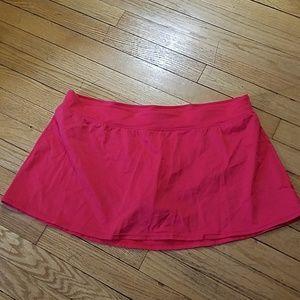 Tropical Escape Red Swim Suit Skirt Bottom